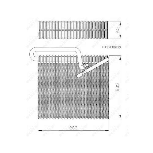 Evaporator aer conditionat Opel Astra G (F48, F08), Zafira A (F75) Nrf 36102