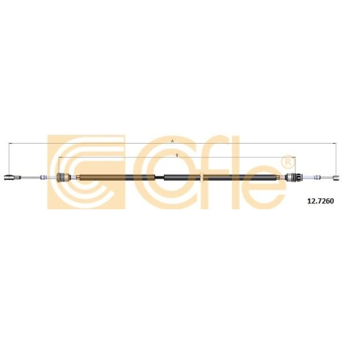 Cablu timonerie transmisie manuala Fiat Grande Punto (199), Punto Evo (199) Cofle 127260