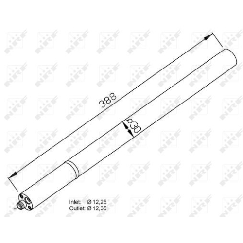 Uscator condensator aer conditionat Vw Caddy 3 (2k), Touran (1t1, 1t2) Nrf 33213