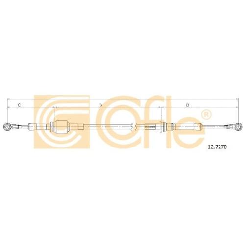 Cablu timonerie transmisie manuala Fiat Punto (188) Cofle 127270