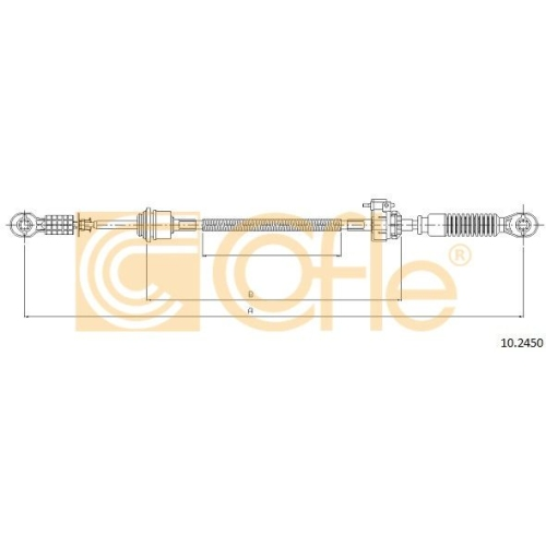 Cablu timonerie transmisie manuala Ford Transit (Fd) Cofle 102450