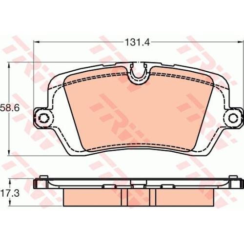 Set placute frana Trw GDB2029, parte montare : punte spate