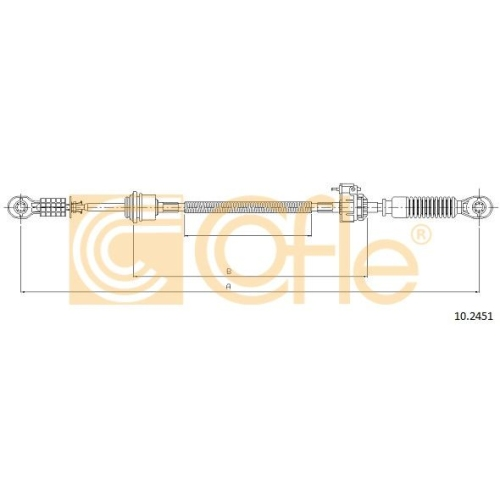 Cablu timonerie transmisie manuala Ford Transit (Fd) Cofle 102451