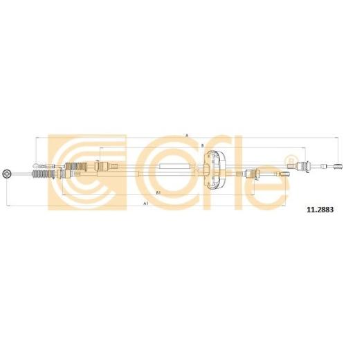 Cablu timonerie transmisie manuala Nissan Primastar (X83); Opel Vivaro (J7); Renault Trafic 2 (Jl) Cofle 112883