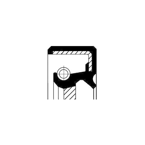 Simering ax cu came Corteco 20026695B, parte montare : Fata
