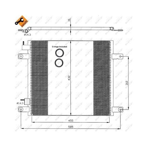Condensator climatizare, Radiator clima Daf Cf 65, Cf 75, Cf 85 Nrf 35364