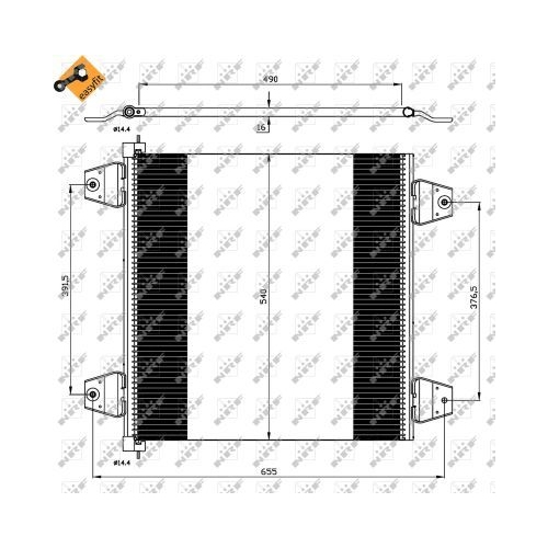 Condensator climatizare, Radiator clima Daf Xf 105, Xf 95 Nrf 35757