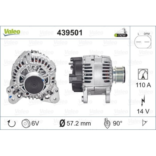 Alternator Valeo 439501 TG11C017