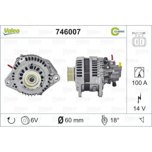 Alternator Valeo 746007