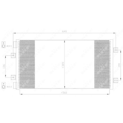 Condensator climatizare, Radiator clima Fiat Punto (188) Nrf 35492