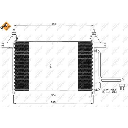 Condensator climatizare, Radiator clima Fiat Stilo (192) Nrf 35495