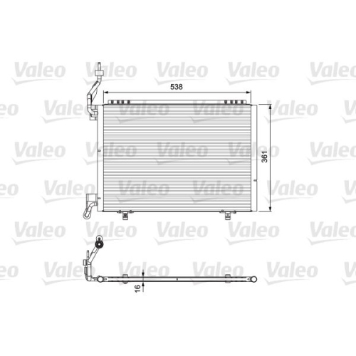 Condensator climatizare, Radiator clima Ford B-Max (Jk), Fiesta 6 Valeo 814074