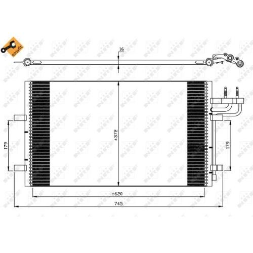 Condensator climatizare, Radiator clima Ford C-Max (Dm2), Focus C-Max, Focus 2 (Da) Nrf 35551
