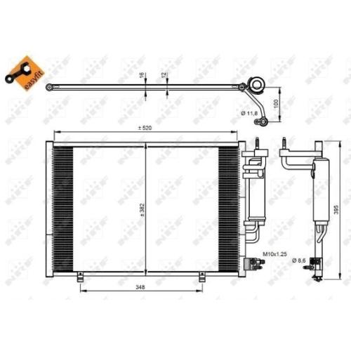 Condensator climatizare, Radiator clima Ford Fiesta 6 Nrf 350205