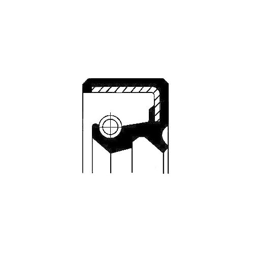 Simering butuc roata Corteco 19016510B, parte montare : Punte fata