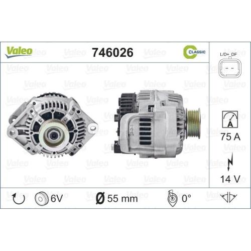 Alternator Valeo 746026 A11VI88