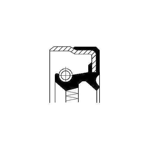 Simering butuc roata Corteco 01019205B, parte montare : Punte spate