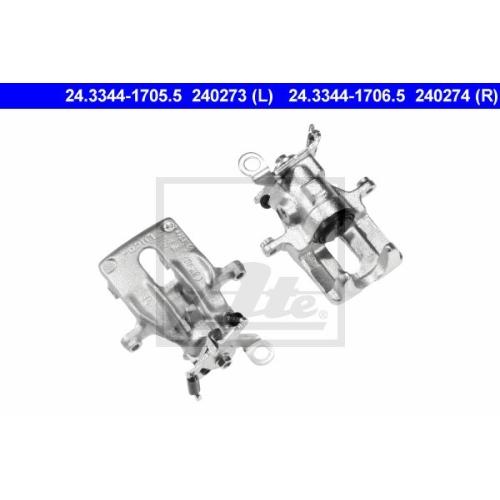 Etrier frana Ford Focus (Daw, Dbw), Ate 24334417055, parte montare : Punte spate, Stanga