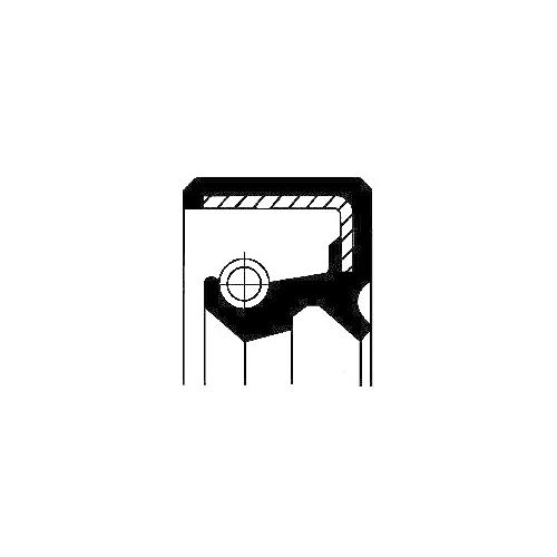 Simering butuc roata Corteco 12017122B, parte montare : Punte spate, spre exterior