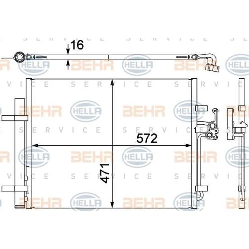 Condensator climatizare, Radiator clima Ford Galaxy (Wa6), Mondeo 4 (Ba7), S-Max (Wa6); Land Rover Freelander 2 (Lf, Fa), Range Rover Evoque (Lv); Volvo S60 Ii, S80 2 (As), V60, V70 3 (Bw), Xc60, Xc70 Ii Hella 8FC351303201