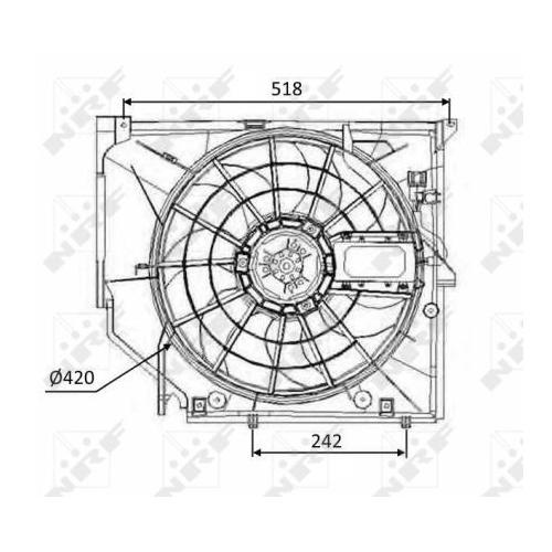 Ventilator radiator GMV Bmw Seria 3 (E46) Nrf 47026