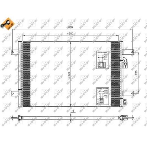 Condensator climatizare, Radiator clima Ford Galaxy (Wgr); Seat Alhambra (7v8, 7v9); Vw Sharan (7m) Nrf 35249