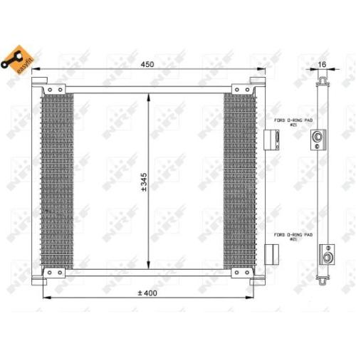 Condensator climatizare, Radiator clima Ford Ka (Rb), Street Ka (Rl2) Nrf 35357