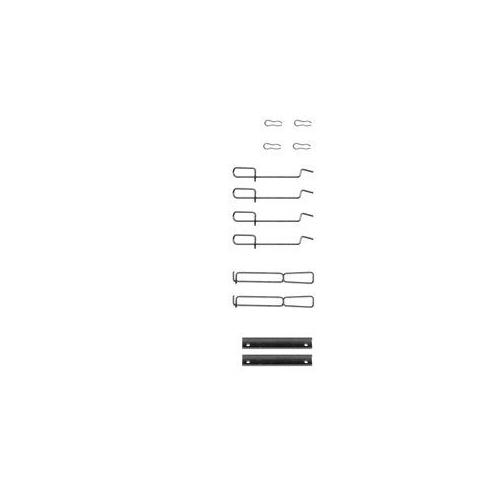 Set accesorii placute frana Delphi LX0262, parte montare : Punte Fata