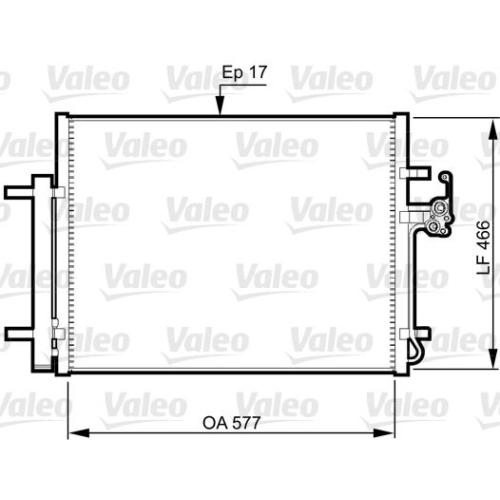 Condensator climatizare, Radiator clima Ford Mondeo 4 (Ba7) Valeo 814360