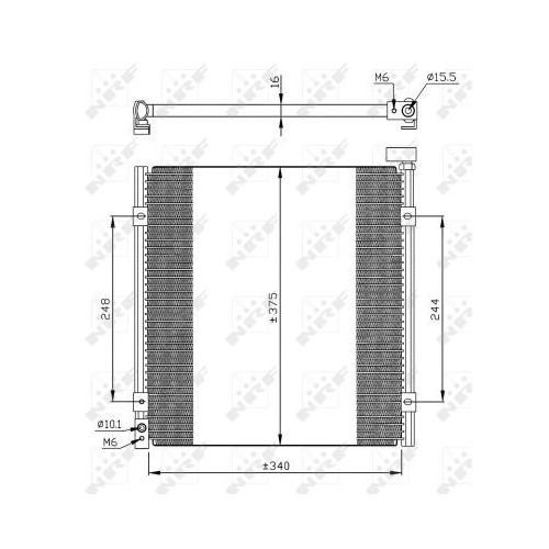 Condensator climatizare, Radiator clima Honda Civic 6 (Ej, Ek) Nrf 35264