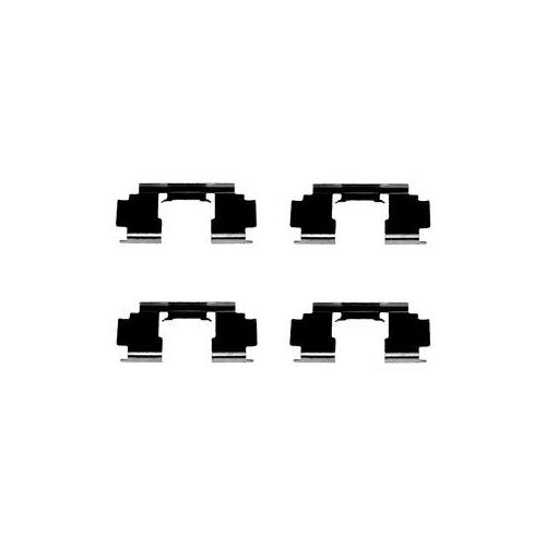 Set accesorii placute frana Delphi LX0301, parte montare : Punte Fata