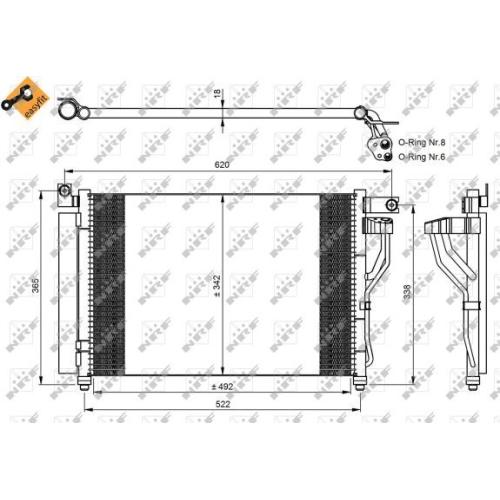 Condensator climatizare, Radiator clima Hyundai Accent 3 (Mc) Nrf 35964