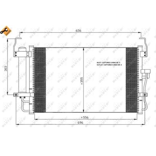Condensator climatizare, Radiator clima Hyundai Coupe (Gk), Elantra (Xd) Nrf 35474