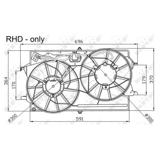 Ventilator radiator GMV Ford Focus 1 (Daw, Dbw) Nrf 47033