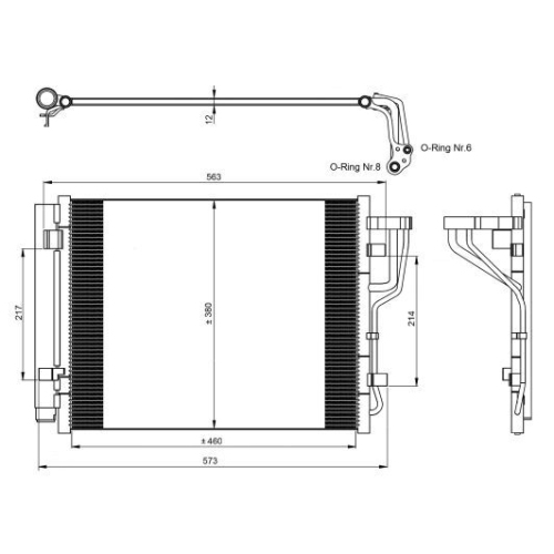 Condensator climatizare, Radiator clima Hyundai Elantra Limuzina (Hd), I30 (Fd); Kia Ceed (Ed) Pro Ceed (Ed) Nrf 35986