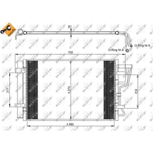 Condensator climatizare, Radiator clima Hyundai I30 (Fd); Kia Ceed (Ed) Pro Ceed (Ed) Nrf 35963
