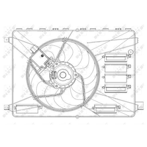 Ventilator radiator GMV Ford Galaxy (Wa6), Kuga I, Mondeo 4 (Ba7), S-Max (Wa6) Nrf 47626