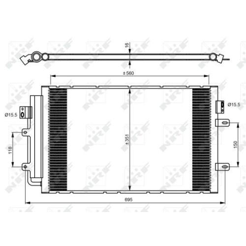 Condensator climatizare, Radiator clima Iveco Daily 5, Daily 6 Nrf 350083