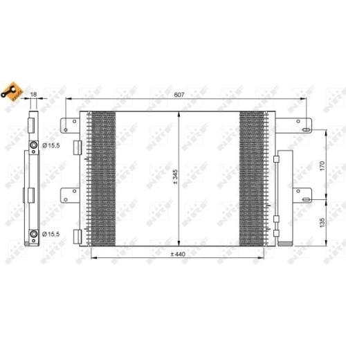 Condensator climatizare, Radiator clima Iveco Eurocargo Nrf 35896