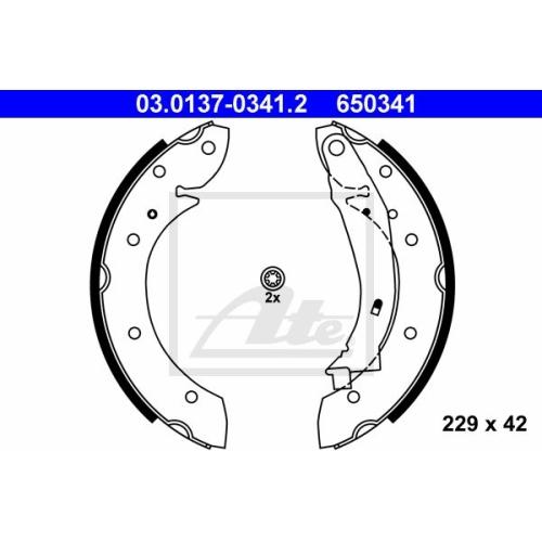 Set saboti frana Ate 03013703412, parte montare : punte spate
