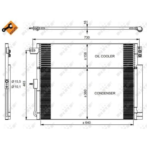 Condensator climatizare, Radiator clima Jeep Grand Cherokee 4 (Wk, Wk2) Nrf 350038