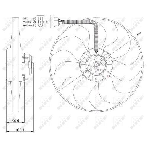 Ventilator radiator GMV Nrf 47204