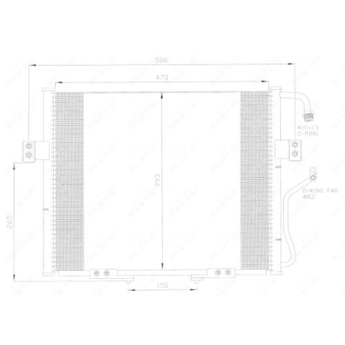 Condensator climatizare, Radiator clima Kia Sportage (K00) Nrf 35399