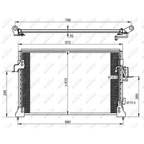 Condensator climatizare, Radiator clima Land Rover Discovery 2 (Lj, Lt) Nrf 35754