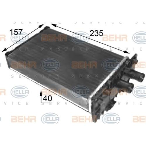 Radiator incalzire habitaclu Hella 8FH351024431, parte montare : Central