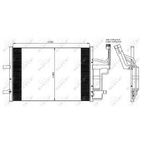 Condensator climatizare, Radiator clima Mazda 3 (Bk), 5 (Cr19) Nrf 35508