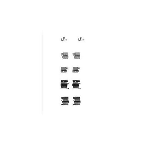 Set accesorii placute frana Delphi LX0339, parte montare : Punte Fata