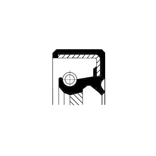 Simering diferential Corteco 19033960B, parte montare : Dreapta