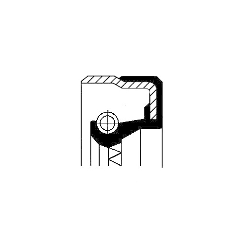 Simering diferential Corteco 01020315B, parte montare : Punte spate, spre interior