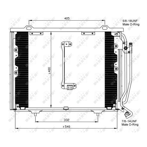 Condensator climatizare, Radiator clima Mercedes-Benz C-Class (W202), Clk (C208) Nrf 35215
